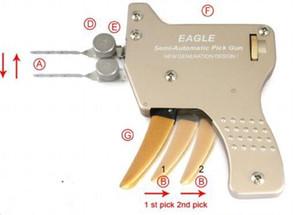 HH 2016 o mais novo tipo EAGLE semi-automática pistolas mecânicas, EAGLE Brockhage Downward Pick Gun, serralheiro lock pick gun frete grátis