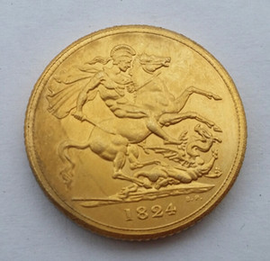 1824 EF Grã-bretanha George IV IIII Ouro Soberana Coin Promoção Barato Preço de Fábrica agradável casa Acessórios Moedas