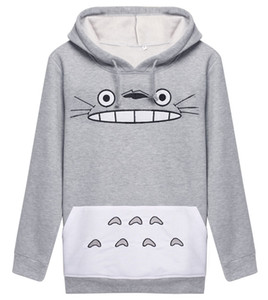 Raisevern 3D gruesa sudadera Harajuku de dibujos animados Totoro Animal cat Imprimir mujeres Cosplay sudadera con capucha de primavera y otoño ropa exterior de algodón tops