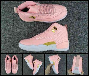 2018 new 12 xii mulheres tênis de basquete rosa 12 s das sapatilhas das mulheres barato boot ball trainers womans marca sport shoes eur 36-40