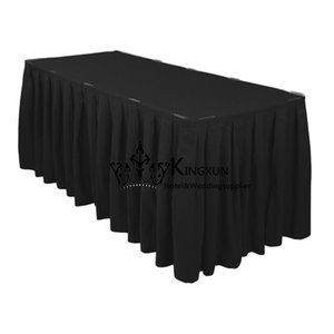 Spedizione gratuita Poly Table Skirt \ Table Skirting per molti tipi di tavolo per hotel per feste di matrimonio