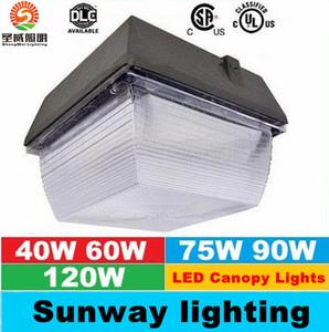 40 W 60 W 75 W 90 W 120 W IP65 LED Projektörler Dış Aydınlatma Canopy Işık Benzin Istasyonu Için LED Sel Işık AC 110-277 V Garanti 5 Yıl