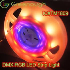 DC5V RGB LED Digital Streifen Licht DMX IC Magie LED Flexible Streifen Licht Kits TM1809 LED Wetterfeste Streifen Lichter 30LEDS / M 5M / Roll