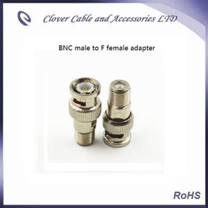 نوعية جيدة وشحن مجاني 50PCS / Lot BNC الذكور إلى F أنثى CATV موصل BNC محول