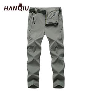 Toptan-HANQIU Artı Boyutu 8XL Quack Kuru Pantolon Erkekler Gevşek Dış Giyim Erkek Pantolon Sonbahar Joggers Yumuşak Rahat Erkekler Pantolon