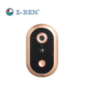 2019 Nueva Doorcam IP Door Camera Eye HD 720P Timbre inalámbrico WiFi a través de Android Teléfono Control Video Cámara de la puerta de mirilla Wifi