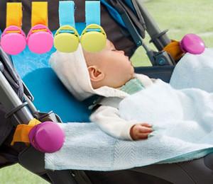 4PC Multifunción cochecito de bebé Mantas Hook clips de prevención de caídas cochecito Accesorios