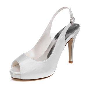 10 cm Topuk Platfrom Elegance Düz Stil Düğün Ayakkabı Akşam Ayakkabı Yüksek Topuk Gelin Ayakkabıları Parti Balo Kadın Ayakkabı gelin ayakkabı Parti Ayakkabı