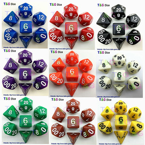 مجموعة النرد عالية الجودة متعددة النرد D4،6،8،10،10٪ ، مجموعات النرد 12،20 ، الزنزانات و Dragons Board Game Dice