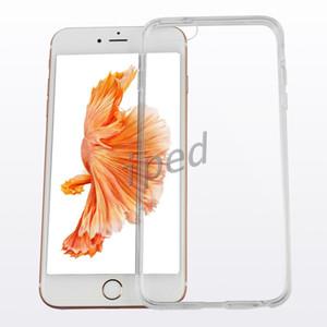 Caso mais barato para iphone 7 i7 i6 mais clara flexível TPU Magro Cristal Atrás Proteger Rubber pele do telefone tampa da caixa Gel 100pcs boa qualidade Caso