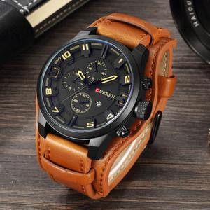 CURRENT Top Brand Luxus Herrenuhr Männer Uhren Männlich Casual Quarz-Armbanduhr Leder Military Wasserdicht Uhren Sport Uhr
