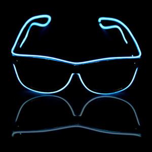 Glow Güneş Gözlükleri Led DJ Parlak Işık Emniyet Light Up Renkli Çerçeve Ses kontrolü gözlük yanıp sönen led