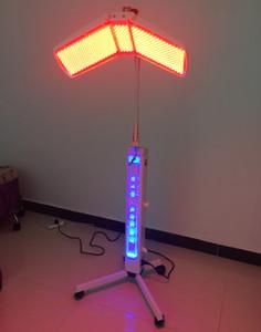 Высококачественный напольный аппарат PDT PHOTON Led FACIAL Therapy Омоложение кожи Красный + синий + желтый + зеленый светодиодный светолечебное оборудование