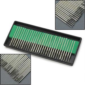 Großhandels-New 30Pcs Silber Diamant Burr Bits Bohrer für Gravur Radierung Dremel Rotary Nail Art Salon Werkzeug-Set