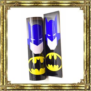 수퍼맨 배트맨 캡틴 아메리카 18650 배터리 PVC 70mm 스킨 히어로 슬리브 수축 튜브 포장 열 수축 재 포장 18650 배터리 DHL