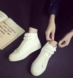 2016 zapatos de otoño e invierno. Monocromo. Zapatos de mujeres. Zapatos de moda simple. Base gruesa Zapatos casuales. Zapatos planos. Zapatos de estudiantes