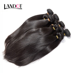 Toptan En Iyi 10A Brezilyalı Düz Saç 1 KG / Lot Işlenmemiş Hint Malezya Perulu İnsan Saç Örgüleri Can Boya Can Boya Doğal Renk