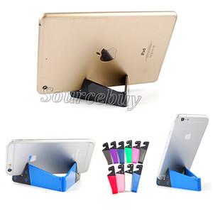 Toptan Fiyat Sıcak Renkli Taşınabilir Tripod Tablet PC Standı Tutucu Evrensel V Şekli Ipad Tablet PC Cep Telefonu Için Katla ...