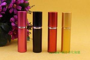 300 unids 5 ml botella de perfume botella de aluminio tallado botellas florales atomizador Spray Travel glass botellas recargables botellas vacías