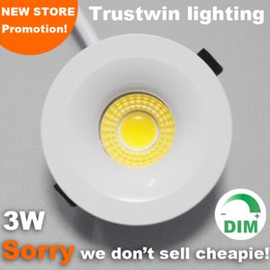 3W 110V 220V foyer living micro pequeño techo blanco miniatura punto regulable mini COB LED downlight 3W down light