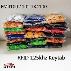 RFID Tag Chave Fob Keyfobs Keychain Token Token 125 Khz Chip de Cartão de ID de proximidade EM 4100/4102 para Controle de Acesso Atendimento