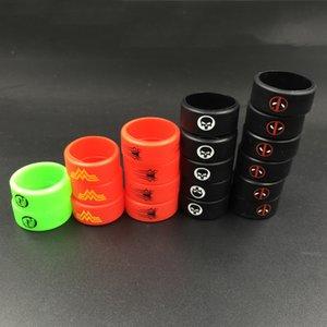 Beauté Vaporizer Vape SuperHero Band Décoration Protection des anneaux de silicium en caoutchouc pour bandes Mods réservoir de Vape silicone personnalisé e CIGS accessoires