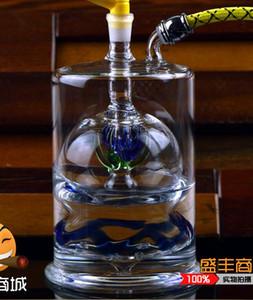 Palla di vetro spesso Narghilè, stile, colore, consegna casuale, Tubature dell'acqua, bong di vetro, Narghilè di vetro, pipa da fumo
