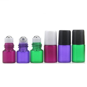 1ML 2ML Roll On Bottle Clear 4 Colors Rollon Metal Roller Ball Bottle Essential Oil Liquid fragrance
