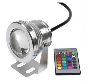 16 colores que cambian la luz de tierra llevada RGB 10W DC12V llevó la luz del punto IP65 impermeable llevó la luz de la lámpara llevada para la iluminación al aire libre interior