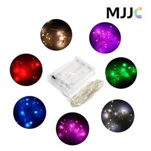 2 M / 3 M / 4 M / 5 M Parti Noel led Pil Gücü Kumandalı 20 30 40 50 LEDs bakır tel (gümüş renk ile) Dize Işık Lambası