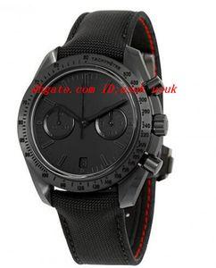 "Relogio De Pulso De Luxo Relogio De Moda Relogio Luar Lado Escuro Da Lua ""Black Black"" Chronograph Black Dial Relogio De Nylon Preto Assista 31192445101005"