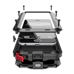 Водонепроницаемый Чехол Для Iphone 7 Чехол Металл Для Iphone 6 Крышка Роскошные Doom Броня Противоударный Полный Защитный Чехол С Закаленным Стеклом