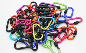 Promotion Gift Outdoors Gear Convenient to Carry Carabiner Aquarius Buckle Gadgets Hang up Bottle Mixed Color