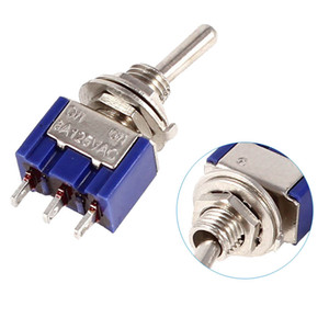 1pc Mini MTS-102 3-Pin SPDT ON-ON 6A 125VAC Interruttori a levetta NUOVO B00282