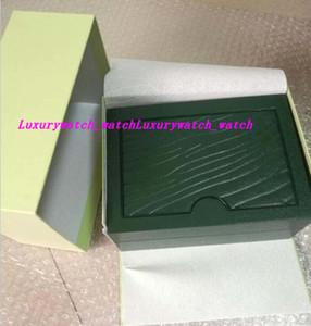 Fornecedor Fábrica Verde Marca originais da caixa Papers relógios de presente caixas de couro Cartão Saco Para 116610 116660 116710 116613 116500 Relógio caixas