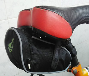 Cycling Bicycle Saddle Rear Seat Bag Waterproof Outdoor Pouch with Reflection strip Quick Release free shipping