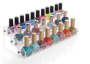 Cosmetici acrilici Vetrina per smalti per unghie che mostra un rack porta-contenitori per la raccolta di mini bottiglie di profumo