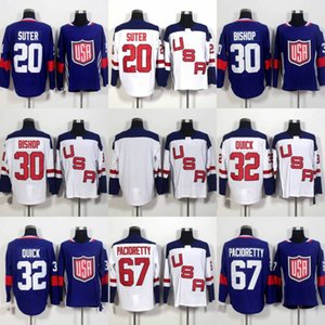 20 Ryan Suter 30 Ben Bishop 32 Jonathan Quick 67 Max Pacioretty Jersey 2016 كأس العالم للهوكي فريق الولايات المتحدة الأمريكية الهوكي جيرسي رخيصة