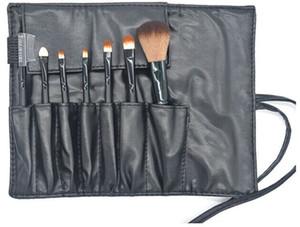 Nueva Llegada Pinceles de Maquillaje Conjuntos Mango de Madera Multi-Functional Black Brushes Kits Herramientas de Maquillaje con PU Bag 7 Unids / set Precio de Fábrica