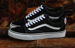 2019 old skool sapatos de lona clássico branco marca preta sapatilhas para as mulheres dos homens de corte baixo skate casual sneakers 35-45