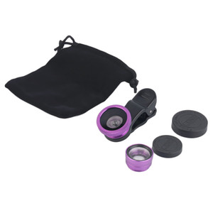 newest 3 In 1 Universal Clip Fish Eye+Macro+Wide Angle Lens for iPhone,Samsung and other Mobile Smartphones hot sale