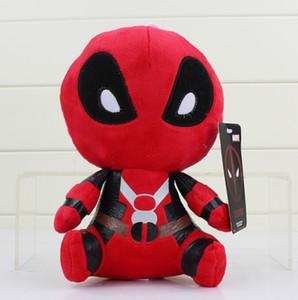 """Marvel Deadpool En Peluche Jouets Doux En Peluche Poupées 8 """" 20 cm Doux Poupée PP Coton 8 pouce Deadpool En Peluche Animaux Enfants"""