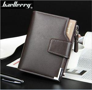 Günlük erkek cüzdanının Baellerry versiyonu, fermuarlı ve üçlü cepli, çok fonksiyonlu bir cüzdan