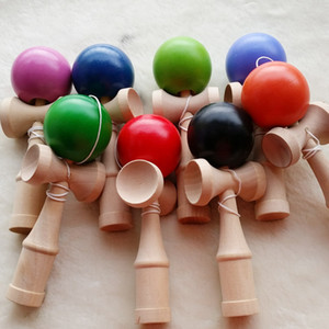 Profissional 19 cm kendamas presentes de madeira brinquedos Kendama Bola Brilhante Japonês Tradicional Jogo Crianças PU Faia pintura