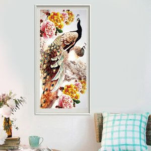 Peacock Rhinestone 5d Diy Diamond Painting DIY Cross Stitch Embroidery Mosaic Needlework Hanging crafts For Home Decoration