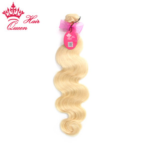 """Queen Hair Producto recién llegado # 613 European Hair Blonde Extensiones de la trama del cabello 12 """"-28"""" 1PC"""