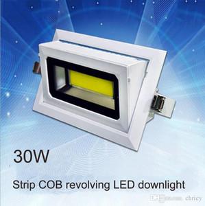 2016 nueva llegada 30W 40W LED rectangular COB downlight IP65 LED reflector giratorio AC85-265V Aluminio fundido a presión
