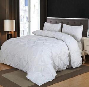 Atacado New Bedding Sets Home Textile plissado gêmeo Double Queen Size Roupa de cama edredon cobrir Set