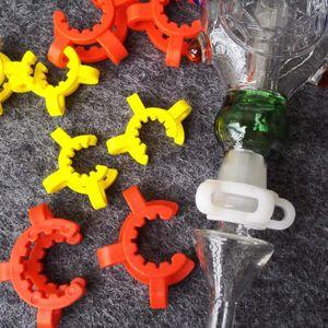 Cheapest ! 10mm 14mm 19mm joint size Plastic K Clip Color Plastic Keck Laboratory Lab Clamp Clip