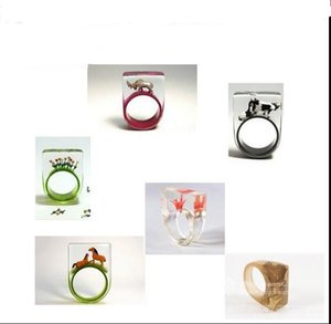 Wholesale-1 piece DIY Clear Silicone Ring Mould For Epoxy Resin with Real Flower Handmade Jewelry Tools Equipments